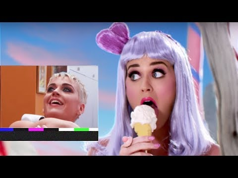 Katy Perry reacts to music videos