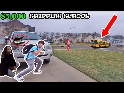 Last To Get Caught SKIPPING SCHOOL Wins $5000 (So Crazy) WE GOT CAUGHT!