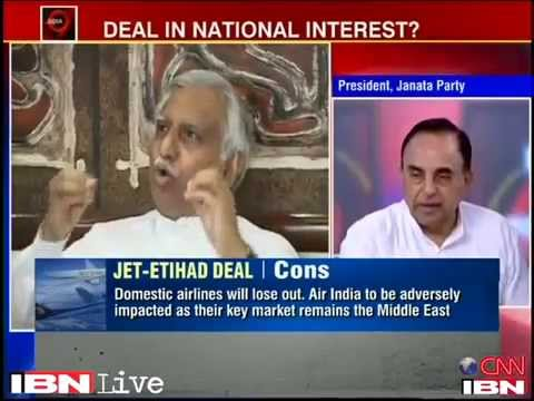 Subramanian Swamy on Is the Jet-Etihad deal in national interest