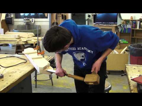 How to make a curved wind brace for timber framed structure.