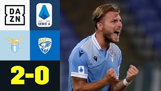 Immobiles Rekordtreffer beschert Lazio den Sieg: Lazio Rom - Brescia 2:0 | Serie A | DAZN Highlights