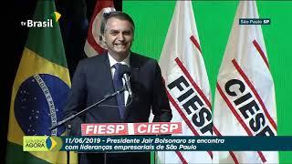 Presidente Jair Bolsonaro fala para líderes empresariais na FIESP - 11 de Junho de 2019