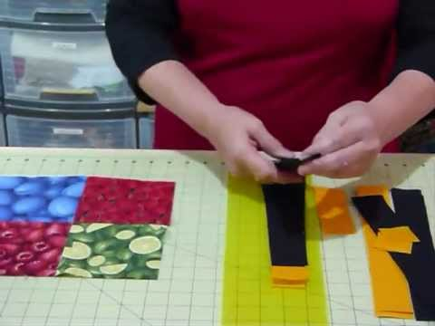 How to make a Simply Sashed 4-patch quilt using 5