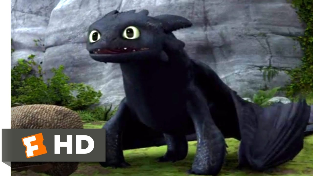 How To Train Your Dragon Toothless New Tail Scene Fandango Family Youtube