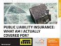 Public Liability Insurance - Important Definitions