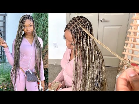 How To Do Brown Blonde Mix Knotless Box Braids Beginner Friendly Very Detailed Youtube In today's i will be teaching you how to do the beyonce inspired knotless braids or blonde and brown mix knotless braids (for. how to do brown blonde mix knotless box braids beginner friendly very detailed