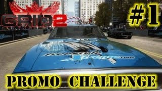 GRID 2 - Promo Challenge #1 - Dodge Charger R/T - Overtake in 1080p
