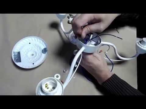 Сборка и подключения люстры на три рожка