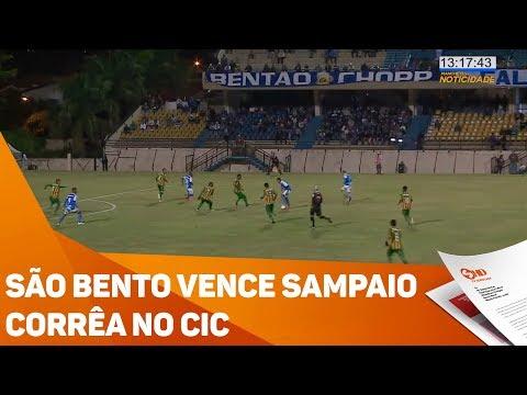 São Bento vence Sampaio Corrêa no CIC - TV SOROCABA/SBT