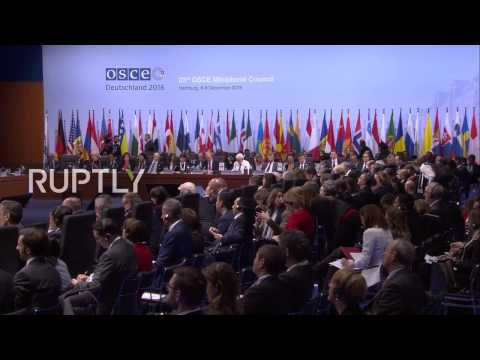 LIVE: Hamburg hosts 23rd OSCE Ministerial Council - First working session