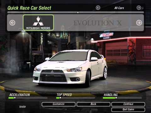 how to make need for speed underground 2 full screen