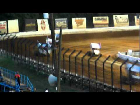 Kasey Kahne Flip- WoO Heat Race- Williams Grove 7/22/11