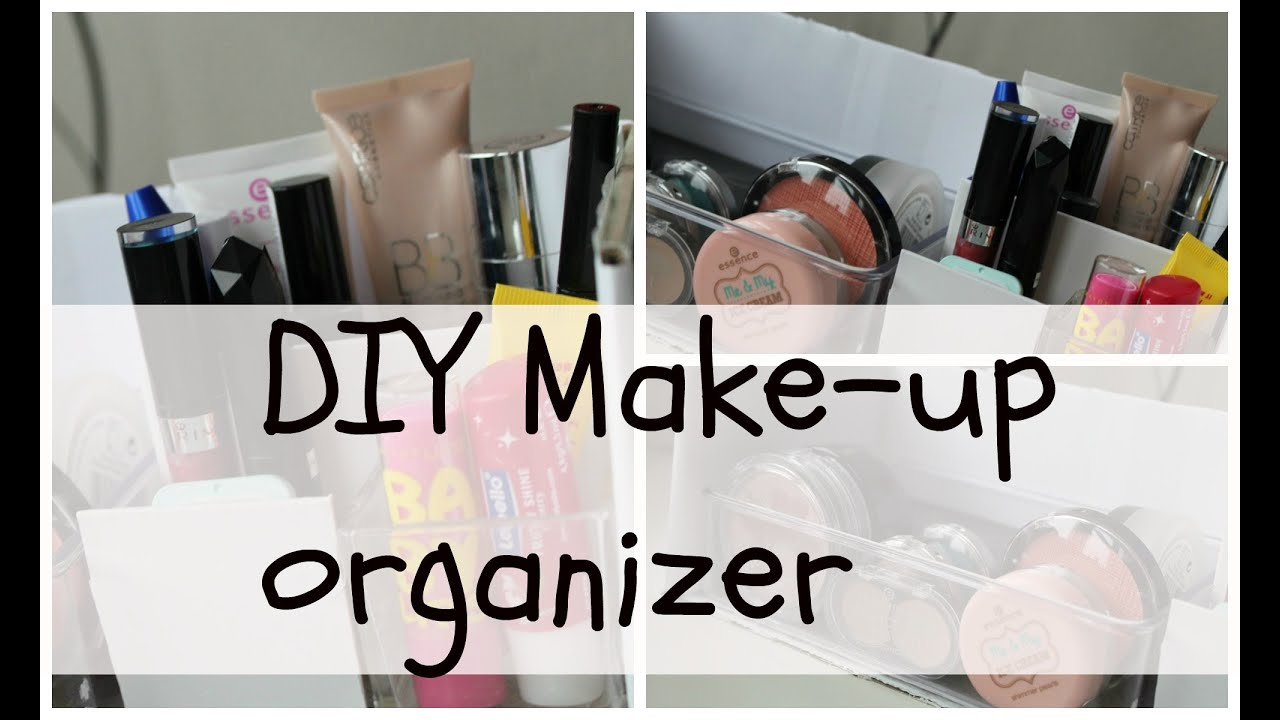 diy make up organizer youtube. Black Bedroom Furniture Sets. Home Design Ideas