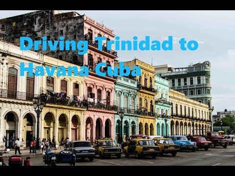 Driving Trinidad to Havana Cuba