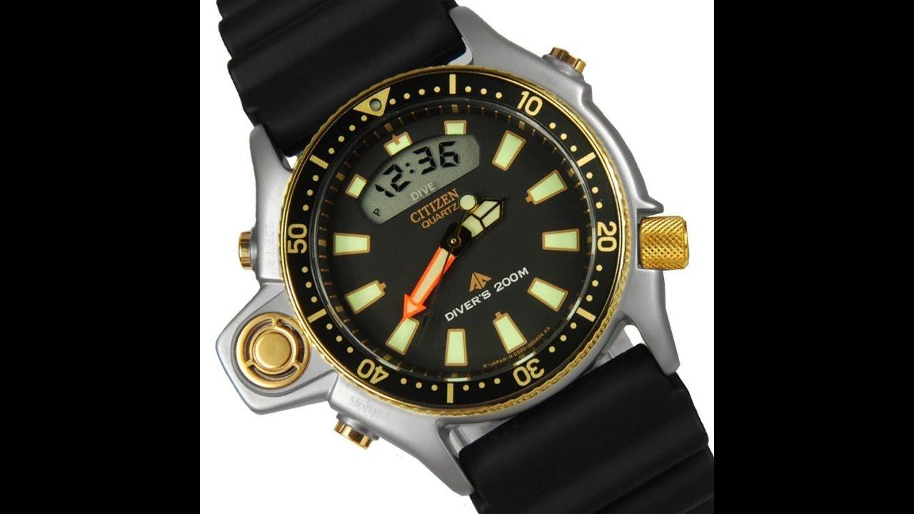 f2c5cb4f735 Relógio citizen Aqualand promaster jp2004  07 série ouro original digital e  analógico altarelojoaria