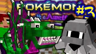 AMAZINGLY EPIC BATTLE WITH FIRST GYM LEADER!!   Pokemon Minecraft Cobalt & Amethyst [3]