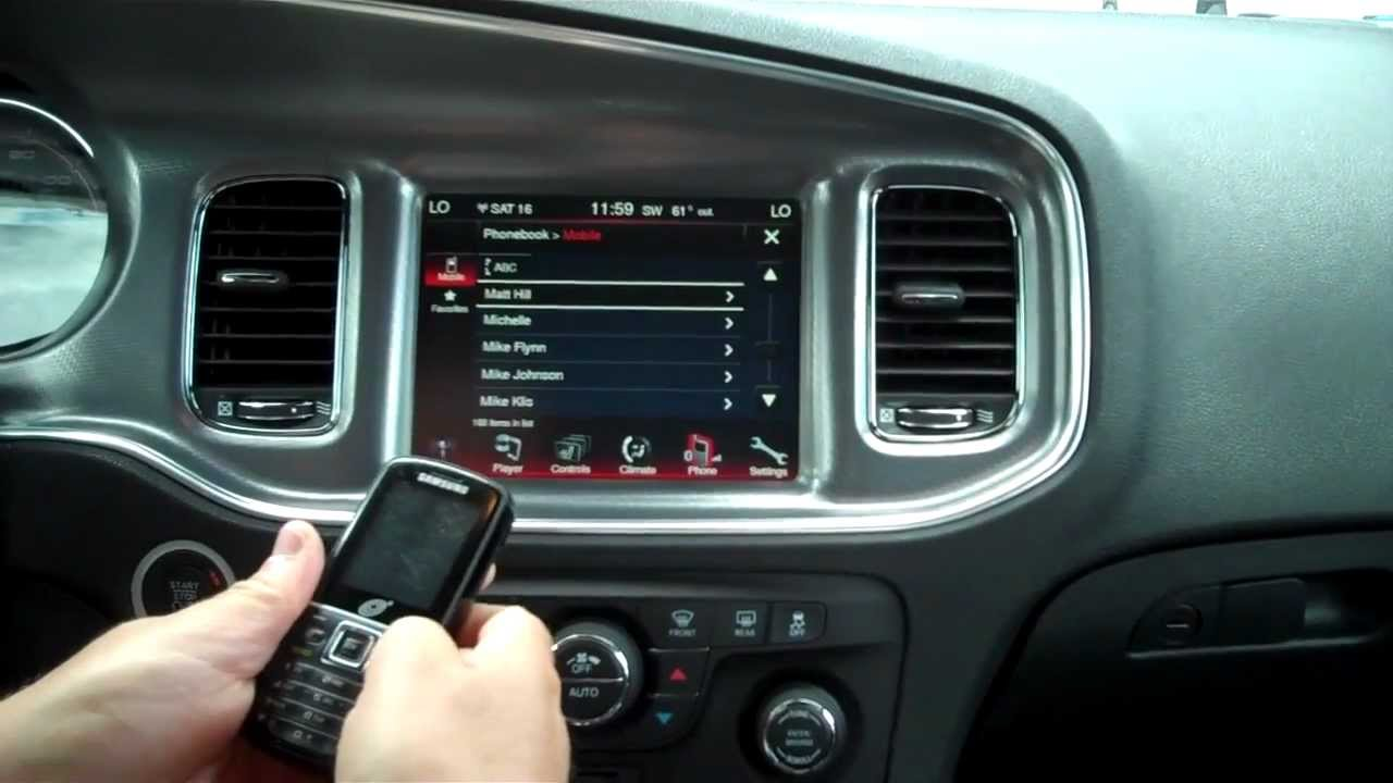 U Connect Phone >> How to pair a phone to uconnect in a new Dodge Charger or ...