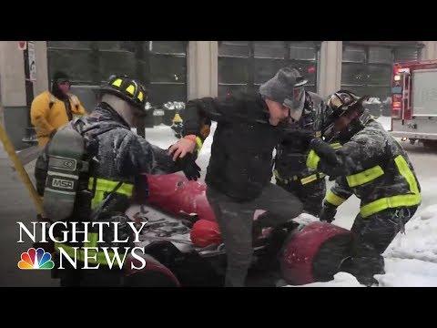 'Bomb Cyclone' Paralyzes Massachusetts | NBC Nightly News