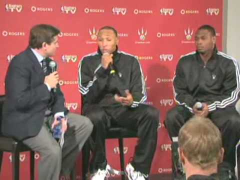 Shawn Marion & Marcus Banks Press