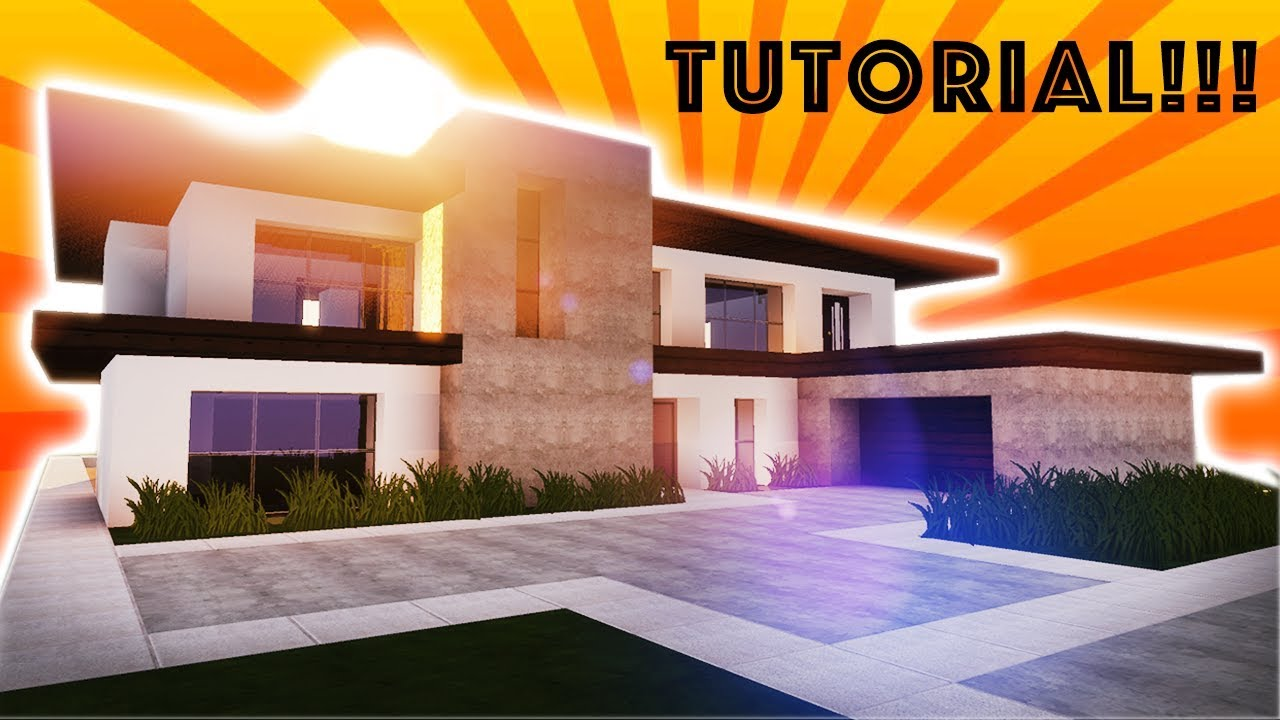 Minecraft Tutorial How to Build a Large Modern House 3 YouTube