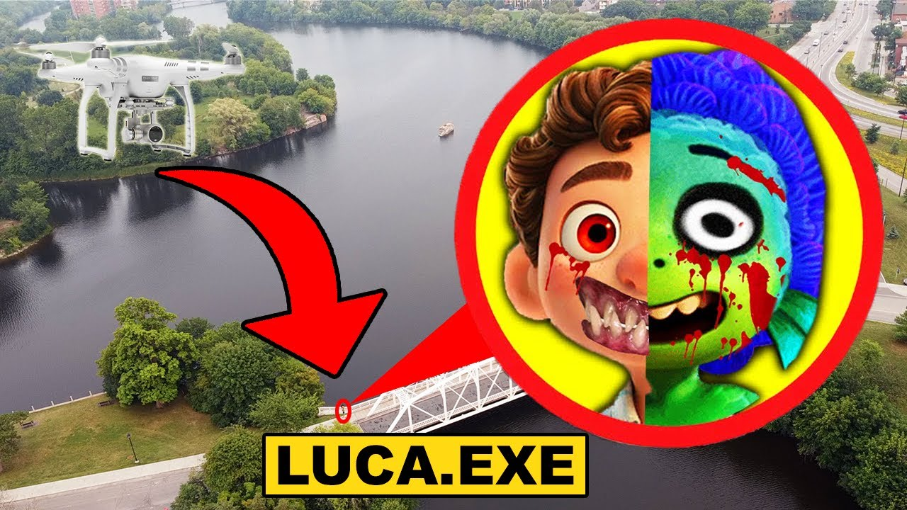 DRONE CATCHES CURSED LUCA.EXE FROM DISNEY'S LUCA MOVIE | CURSED LUCA.EXE CAUGHT ON DRONE!!