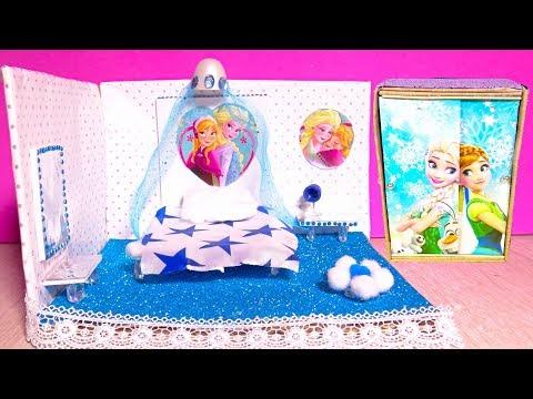 DIY Miniature Dollhouse ~ Anna Room Decor, Frozen Bedroom Furniture