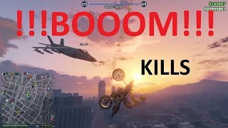 GTA 5 !!! BOOOM !!! AWESOME Kill montage with Jets vs Oppressor and explosiv ammo (compilation #26)