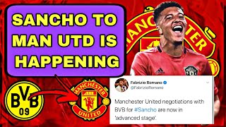 SANCHO To Man Utd Comfirmed!! | Fabrizio Romano Big Update (In Advance Talks)