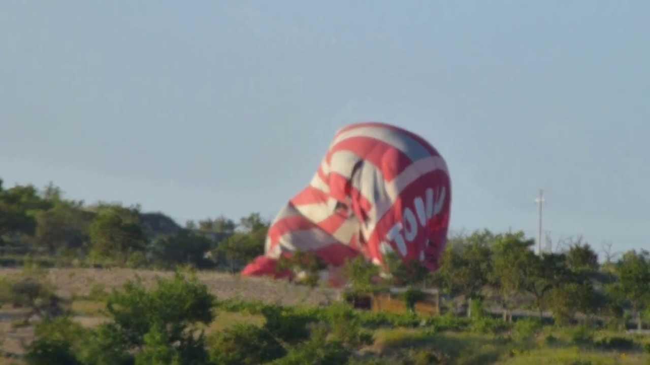 Hot Air Balloon Crash Cappadocia Turkey May 20 2013