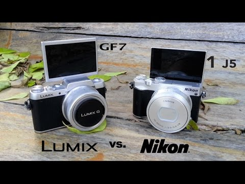Panasonic GF7 vs. Nikon J5 Round 2 Hands-On Field Test Review Head to Head