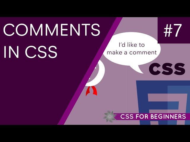 CSS Tutorial For Beginners 07 - CSS Comments and Where to Use Them