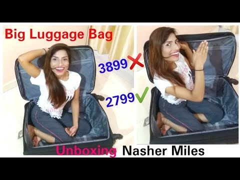 Nasher Miles Bogota Expander Soft Side Checkin Luggage| Trolley/Travel/Tourist Bag | Unboxing |
