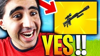🔴FORTNITE LE NOUVEAU FUSIL DE SNIPER LOURD👉 ENFIN OFFICIEL SUR FORTNITE BATTLE ROYALE!!! !!