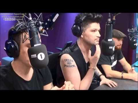 The Script WEBCAM interview on radio 1 2014