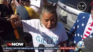 Protesters appear at Broward County elections tabulation center