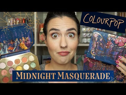 NEW Midnight Masquerade From ColourPop + DISNEY | Swatches Of EVERYTHING!