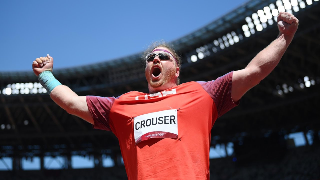 Ryan Crouser defends Olympic gold in shot put podium repeat
