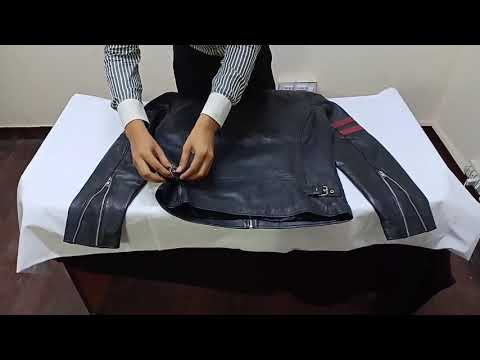 Unboxing Of Red Strip Black Leather Jacket