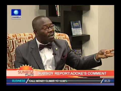 George Eke on fuel subsidy probe report