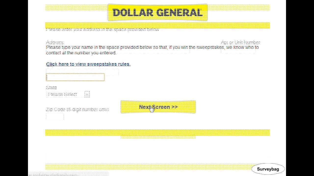 www.dollargeneralsurvey.com Dollar General Survey Video by ...