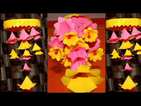 Inexpensive Paper Flower Wind Chime