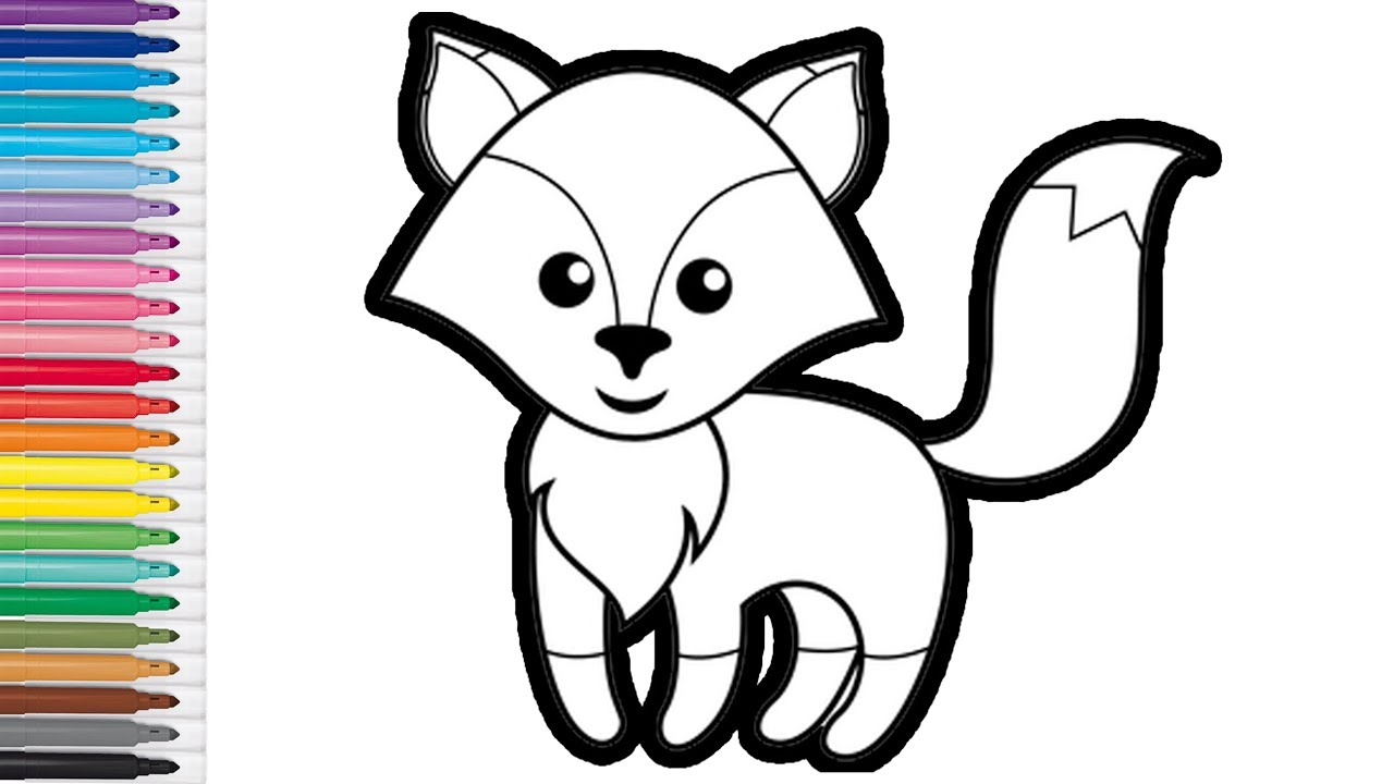 How To Draw And Color The Fox For Kids And Toddlers