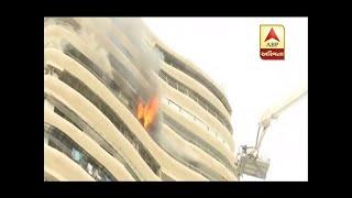 Fire At Crystal Tower Of Parel Mumbai, Fir Brigade At Spot.