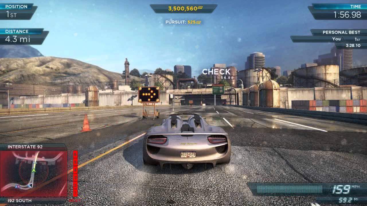 nfs most wanted 2012 fully modded pro porsche 918 spyder most wanted list. Black Bedroom Furniture Sets. Home Design Ideas