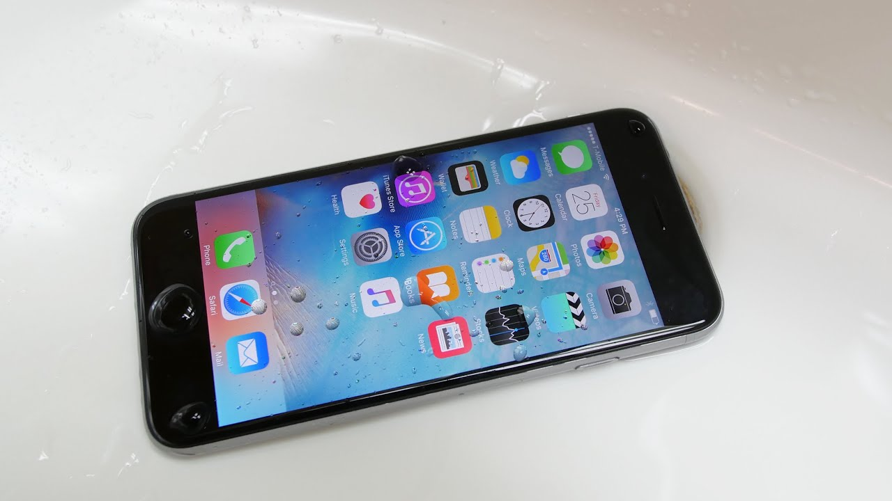 sale retailer bc1e6 221bd iPhone 6S is Waterproof?! - Water Test