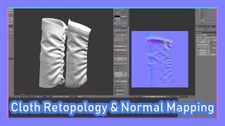 Re-topology and Normal Maps for Cloth with Marvelous Designer and Blender