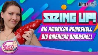 Sizing-up Huge Dildo   Mom Tries Big American Bombshell War Daddy Dildo