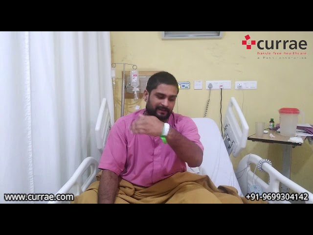 Pt. Amit Tiwari | ACL Surgery | Dr. Parth Agrawal | Currae Hospitals