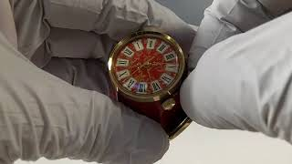 Vintage Swiss Bueche Girod Miniature Alarm Clock
