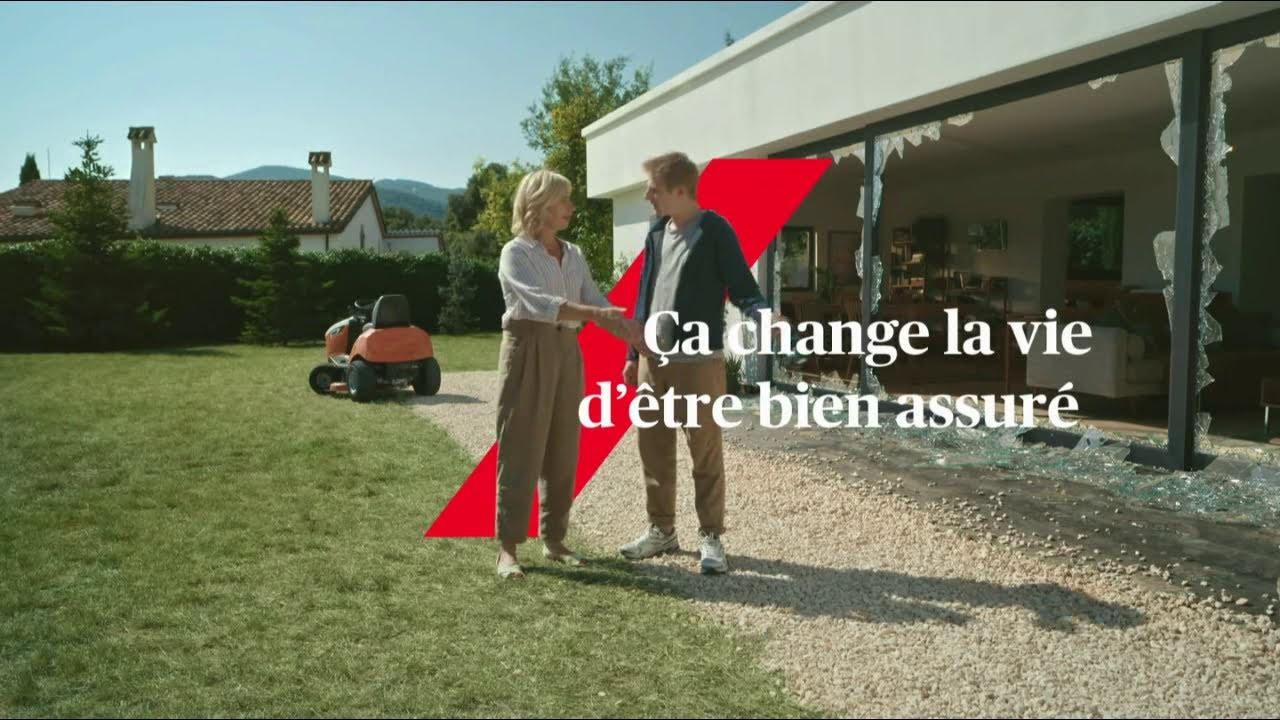 """Musique de la pub Axa – tondre la pelouse """"ça change la vie d'être bien assuré""""  2021"""